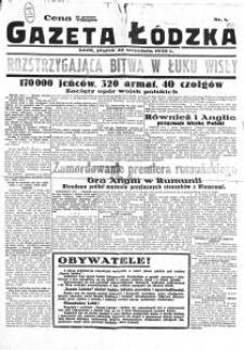Gazeta Łódzka. 1939-09-22 [R. 1] nr 1