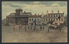 Lowitsch, Kriegsschauplatz 1914/15 : Rathaus und Hotel Polski