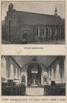 Łódź : Kościół Św.[iętych] Apost.[ołów] Piotra i Pawła