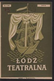 Łódź Teatralna. 1948/[19]49 R. 3 nr 4