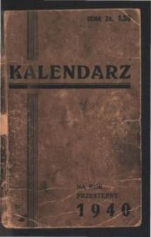 Kalendarz : na rok przestępny 1940