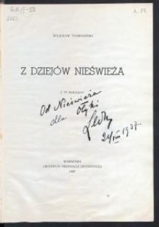 Z dziejów Nieświeża : z 70 ilustracjami / Bolesław Taurogiński.
