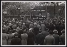 1938 : Kreistreffen des Deutschen Volksverbandes in Belchatow : Eugen Nippe spricht