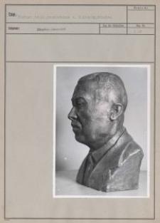 Eichler, Adolf, Bronzebüste v. M. Kronig, München