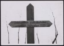 Grabkreuz ermordeter Volksdeutscher