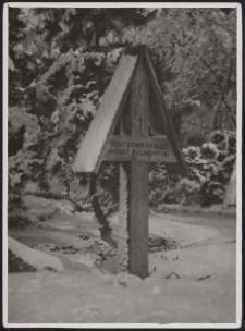 Grabkreuz im Walde bei Zgiersch 1927