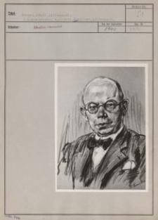 Kargel Adolf, Litzmannst. : Kohlenzeichnung v. Friedr. Kunitzer, Litzmannst.