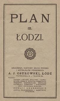Plan m. Łodzi