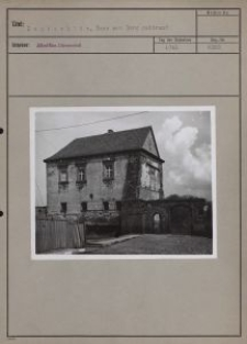 Lentschütz : Haus zur Burg gehörend