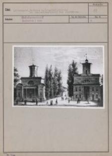 Litzmannst. : Rathaus u. Trinitatiskirche am Deutschlandplatz vor 100 Jahren