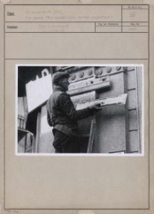 Litzmannstadt 1939 : die neuen Straßenschilder werden angebracht