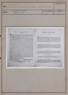 Litzmannstadt : Bekanntmachung über Ansiedlung 1819