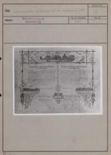 Litzmannstadt : Gesellenbrief der Weberzunft 1874