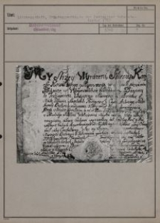 Litzmannstadt : Gründungsurkunde der Pabianicer Schmiedeinnung 1769