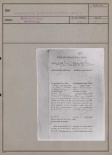 Litzmannstadt : Niederlassungsurkunde. Bl. 1-3