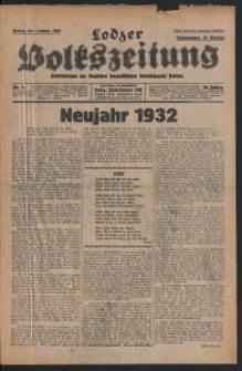 Lodzer Volkszeitung : Zentralorgan der Deutschen Sozialistischen Arbeitspartei Polens. 1932-01-01 10. Jg Nr 1