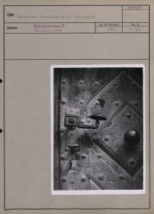 Parzeczew : Türschloß an der Kirchentür