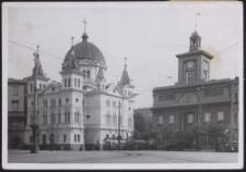 Rathaus u. Trinitatiskirche in Lodsch