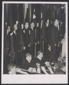 [Fotografia wiecu młodzieży niemieckiej w Łodzi, 1938]