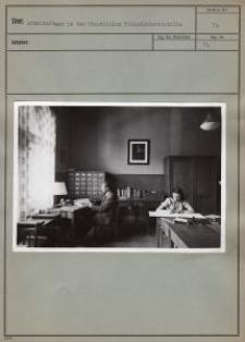 Arbeitsräume in der Staatlichen Volksbüchereistelle